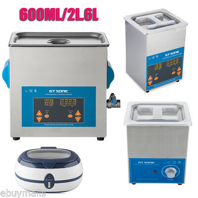 600ML/2L/6L Ultrasonic Cleaner StainlessSteel Timer Heater Bath Tank Cleaning AU