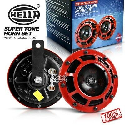 New & Genuine HELLA Supertone Dual Car Horn (Pair) 12V 118dB Subaru WRX Evo