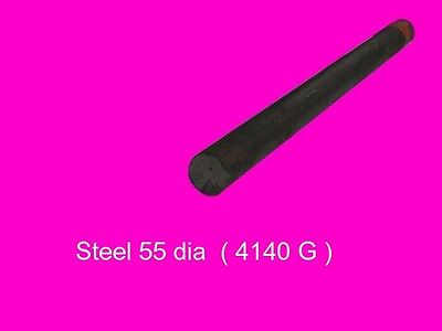 Steel 55 dia x per inch Bar 4140-High Tensile-Lathe