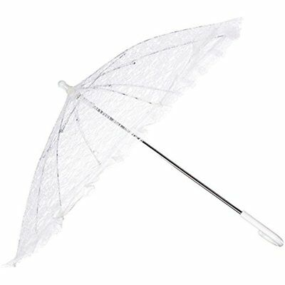 Homeford White Home & Kitchen Features Lace Parasol Umbrella For Bride, 26-Inch