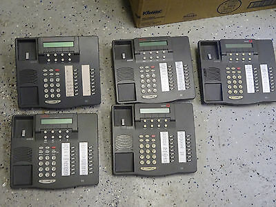 Avaya 6416D+M Definity Office Phone System **1 LOT OF 5 PHONES!!**
