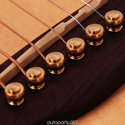 6pcs/set Metal Brass Bridge Pins for Acoustic Guitars String Pegs as07