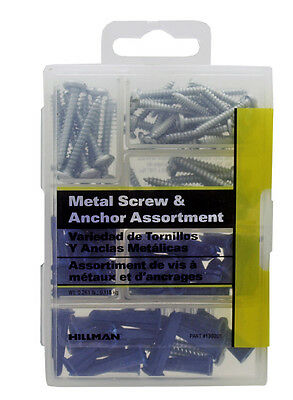 Hillman Anchor and Screw Assortment Drywall Picture Shelf Mirror Hanger Kit Set