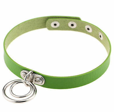 GREEN BDSM KINKY DOUBLE RING CHOKER NECKLACE COLLAR 50 SHADES OF GREY Necklace