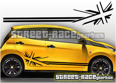 Toyota Aygo OTT017 roof bonnet sides rear racing stripes graphics stickers decal