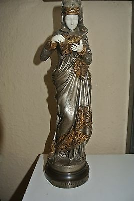 La Liseuse Bronze Chryséléphantine de Albert-Ernest Carrier Belleuse tbe