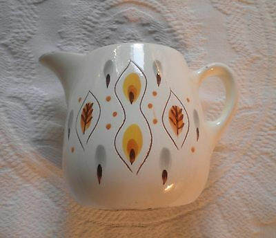 Stangl Mid-Century Modern Art Pottery Amber Glo Made In Usa Pitcher