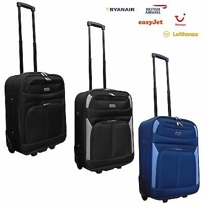 Hand Luggage Cabin Bag Trolley Suitcase Jet2 EasyJet BA Thomson 55x39.5x20CM