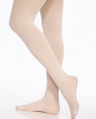 Danskin 387 Girl's Theatrical Pink & Lt Toast UltraSoft Footed Tights