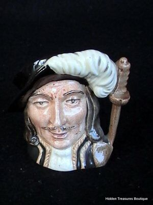 Royal Doulton Athos D6509 3 Musketeers Small Figural Character Jug England