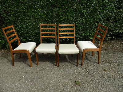 Set Of 4 Chairs Designed by V.B Wilkins for G-Plan  Stunning Shape & Styling