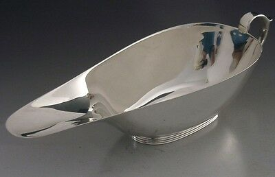 Quality Art Deco Solid Sterling Silver Sauce / Gravy Boat Jug 1938 Antique