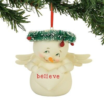 Department 56  Snowpinions  Believe Christmas Ornament New 2017 !