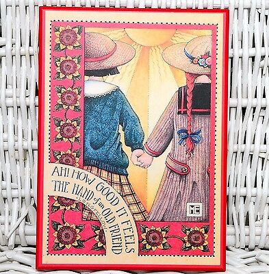 Mary Engelbreit Colorplak Collection ME 116 How Good it Feels Friendship Plaque