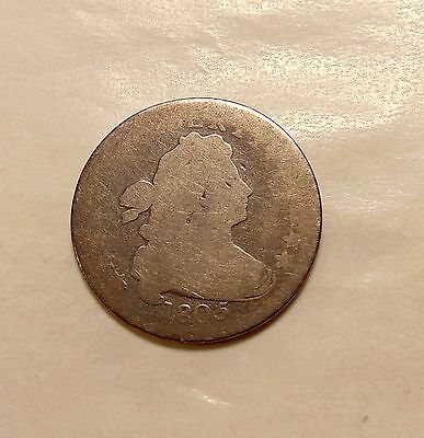 1805 Heraldic Eagle Bust Dime - Scarce Date - Nice Coin for the grade