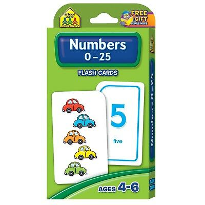 Numbers Flash Cards For Toddlers Kids Child Learning Preschool 0-25 Counting