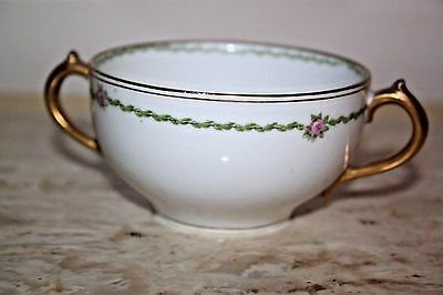 LIMOGES Floral white Sugar Bowl MADE IN FRANCE