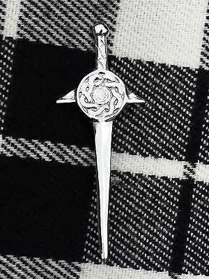 New Celtic Swirl Sword Kilt Pin Shield Design /Celtic Knot Kilt Pin/Kilt pins