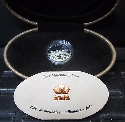 1999 Canada 25C Proof Silver Quarter ✪ June Millennium Coin ✪ Box Coa ◢Trusted◣