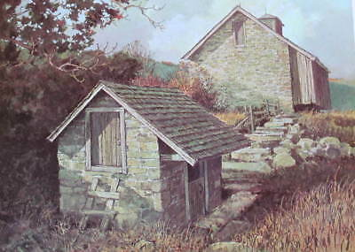 Old Rock Spring House  and Barn Pennsylvania Farm 1970s print by Eric Sloane