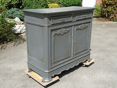 Antique French chiffonier/ sideboard/ dresser painted in Graphite