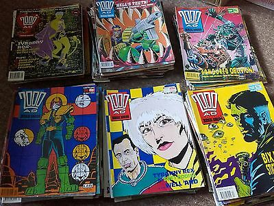Job Lot 130 2000AD comics Aug 88-Jul94 covering issues 589-897(not complete)