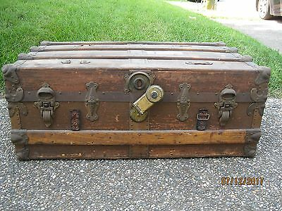 Vintage Wooden Steamer Trunk - Cannelton, IN -Untouched To Keep The Authenticity