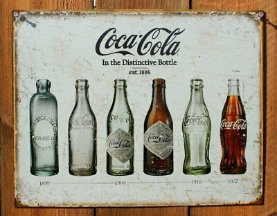 Coca Cola Sign Metal Tin Vintage Advertising Old Square Wall Store Coke 16x13in