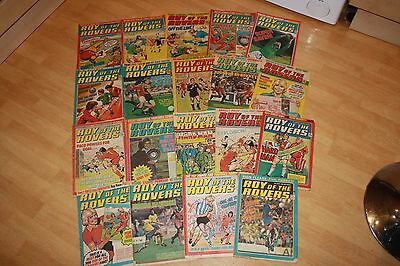 VINTAGE ROY OF THE ROVERS COMICS 1980's  (19 comics) IN USED CONDITION