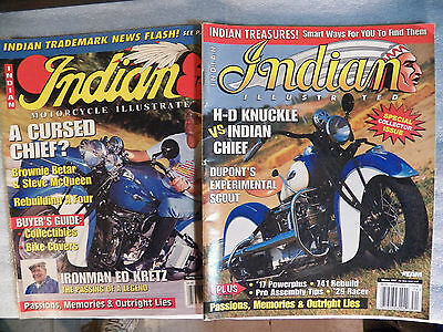 Indian Motorcycle Illustrated Lot of 2 - Spring 1996 & Winter 1997
