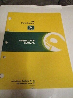 John Deere 146 Farm Loader Operator's Manual
