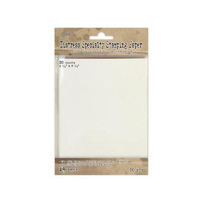 """Tim Holtz Distress Specialty Stamping Paper 4.25""""x5.5"""" 20pcs"""