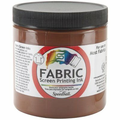 Speedball Art Products Fabric Screen Printing Ink 8 oz Brown