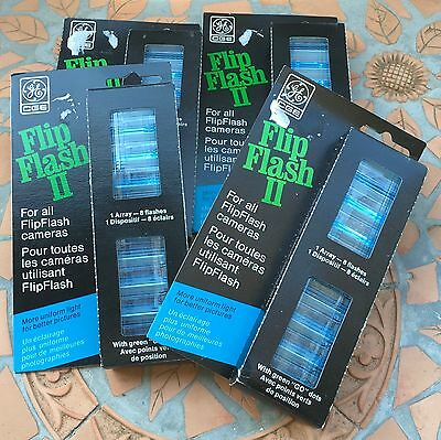 GE Flip Flash II 4 Packages 32 Flashes 4 Arrays   Total New Old Stock