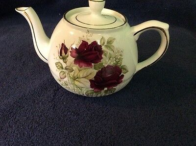 Ellgreave Tea Pot , Flower Design , Ironstone , Woods& Sons , England,