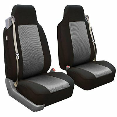 FH Group FB302GRAY102 Gray Classic Cloth Built-In Seatbelt Compatible High Ba...