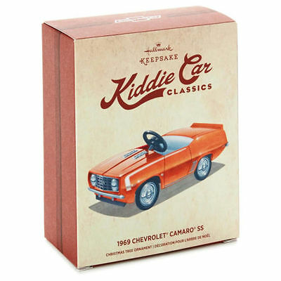 Hallmark ~ 1969 Chevrolet Camaro SS Kiddie Car Classics Ornament (Orange)