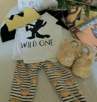 Where the Wild Things Are 1st Birthday Outfit, Crown, & Shoes 18-24 Months