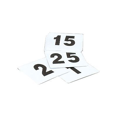 TABLE NUMBERS SET OF 1-100 PLASTIC BLACK ON WHITE SMALL (Size 50x50mm)