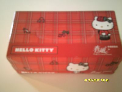 HELLO KITTY BOX OF FACIAL TISSUES Unopened 2010 Plaid Design Full Size Sanrio