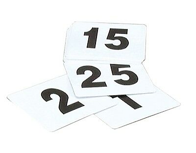 TABLE NUMBERS SET 1-200 PLASTIC BLACK ON WHITE LARGE 105x95mm BAR CAFE FUNCTIONS