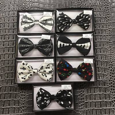 Variation of 7 Music Style of Bow Tie Tuxedo Wedding Formal Men's Accessories