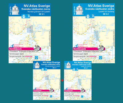 nv-verlag ATLAS SE 5.1 + SE 5.2 Svezia Sverige COSTA OCCIDENTALE NORD E SUD