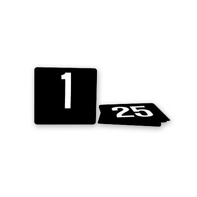 TABLE NUMBERS SET 1-100 PLASTIC WHITE ON BLACK LARGE 105x95mm BAR CAFE FUNCTIONS