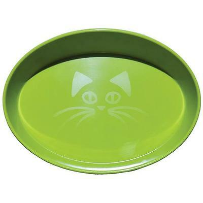 Scream OVAL CAT BOWL 300ml Loud Green Cat, Kitten Food and water bowl Brand new
