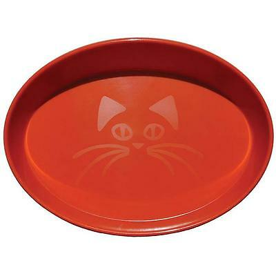 Scream OVAL CAT BOWL 300ml Loud Orange Cat, Kitten Food and water bowl Brand new