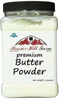Hoosier Hill Farm Real Butter powder 1 lb Gluten Free and rBGH and rBST.free
