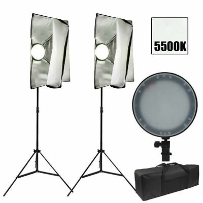 Photography Studio LED Dimmable Softbox Lighting Soft Box Diffuser Stand Kit New