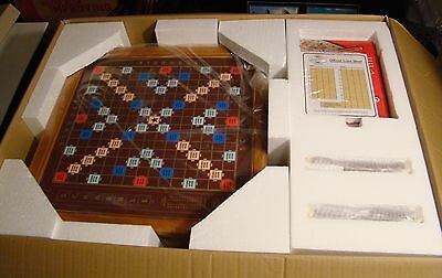 Franklin Mint Collector's Edition Wooden Scrabble Game w/ 24K Gold Plated Letter