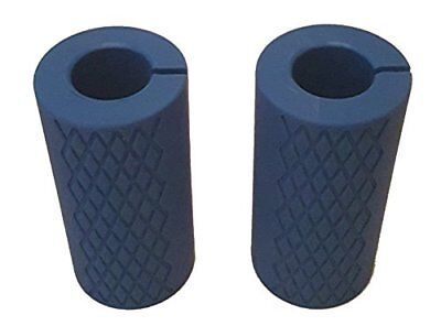 """LOGOLESS - Pair of 2"""" BIG Hand Grips - For Resistance Bands Barbells Dumbbell..."""